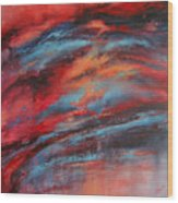 Rosy Glow Wood Print