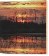 Rosy Mist Sunrise Wood Print