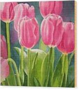 Rosy Pink Tulips Wood Print by Sharon Freeman