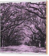 Rosy Road Wood Print