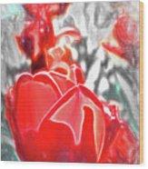 Rosy Swirl Wood Print