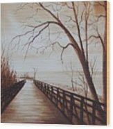 Rotary Bridge Wood Print