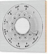 Rotary Telephone Dial Wood Print