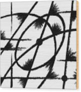 Rotation Axis Wood Print