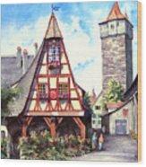 Rothenburg Memories Wood Print