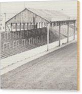Rotherham - Millmoor - Millmoor Lane Stand 1 - Bw - April 1970 Wood Print