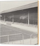 Rotherham - Millmoor - Railway End 1 - Bw - April 1970 Wood Print
