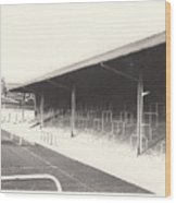Rotherham - Millmoor - Railway End 2 - Bw - April 1970 Wood Print