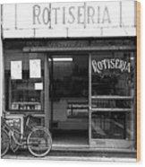 Rotiseria Wood Print