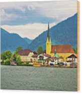 Rottach Egern On Tegernsee Architecture And Nature View Wood Print
