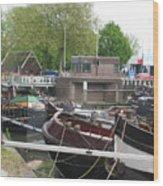 Rotterdam Silence By The Docks Wood Print