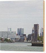 Rotterdam Skyline With Euromast  Wood Print