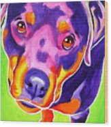 Rottweiler - Summer Puppy Love Wood Print