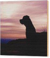 Rottweiler Sunrise Wood Print