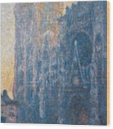 Rouen Cathedral, The Portal, Morning Wood Print