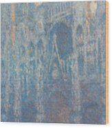 Rouen Cathedral, The Portal, Morning Light Wood Print