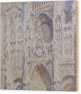 Rouen Cathedral, The Portal, Sunlight Wood Print