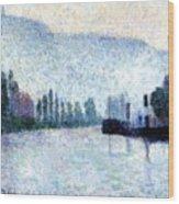 Rouen La Seine Et Les Collines Canteleu 1887 Wood Print