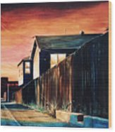 Rouge Alley Wood Print