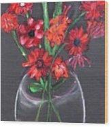 Rouge Et Noir Wood Print