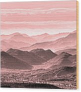 Rouge Hills Of The Tonto Wood Print