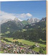 Rougemont Village In Switzerland Wood Print