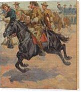 Rough Riders Cavalry Wood Print