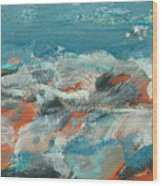 Rough Waters Wood Print