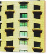 Round Balconies Wood Print