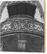 Round Balcony In France Wood Print