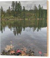 Round Lake At Lacamas Park In Fall Wood Print