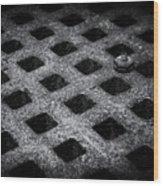 Round Peg Square Hole Wood Print