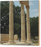Round Temple At Olympia Wood Print