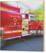 Round Top Vol. Fire Co. Inc. New York 7 Wood Print