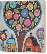Round Tree Wood Print