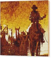 Round Up Reflection Wood Print