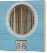 Round Window Wood Print