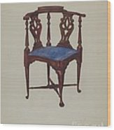 Roundabout Chair Wood Print