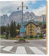 Roundabout Cortina D'ampezzo  Wood Print