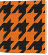 Rounded Houndstooth Black Pattern 03-p0123 Wood Print