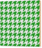 Rounded Houndstooth White Background 09-p0123 Wood Print