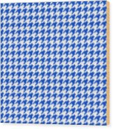 Rounded Houndstooth White Background 18-p0123 Wood Print