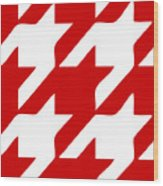 Rounded Houndstooth White Pattern 02-p0123 Wood Print