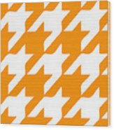 Rounded Houndstooth White Pattern 03-p0123 Wood Print