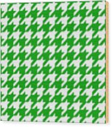 Rounded Houndstooth White Pattern 09-p0123 Wood Print