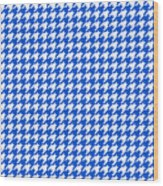Rounded Houndstooth White Pattern 18-p0123 Wood Print