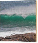 Roundstone Turquoise Wave Ireland Wood Print