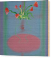 Rouseau Flowers Wood Print