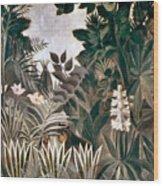 Rousseau: Jungle, 1909 Wood Print