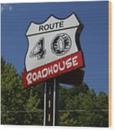 Route 40 Roadhouse Wood Print